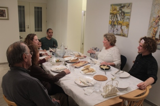 My cousins Shay & Idan hosted us for dinner